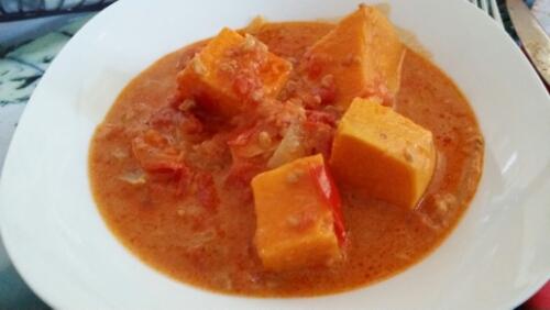 Afrikanischer Süßkartoffel-Eintopf