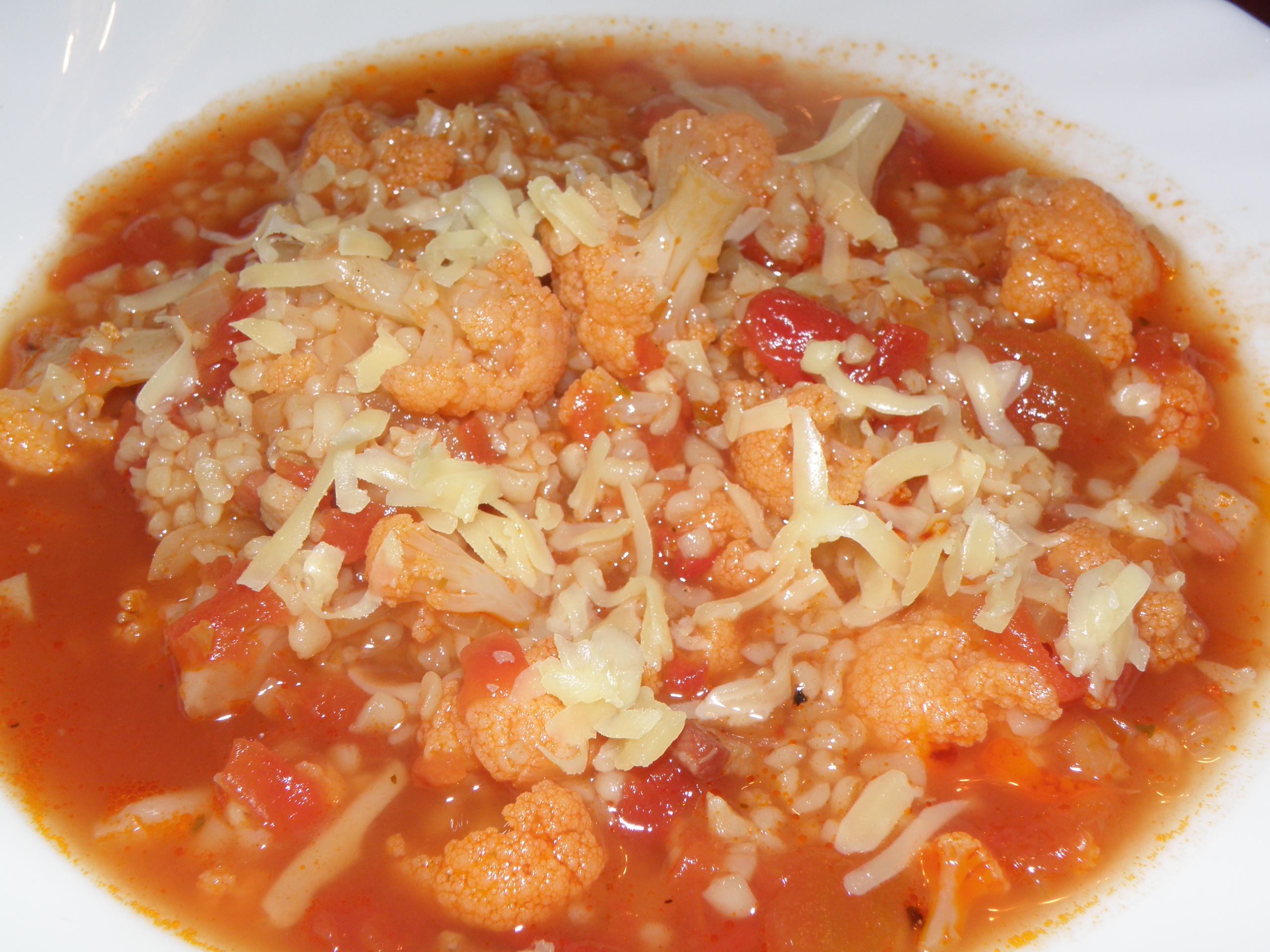 Blumenkohl-Tomaten-Suppe von Tine