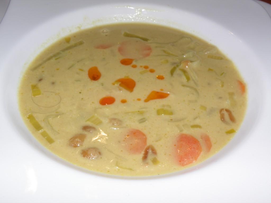Afrikanische Erdnuss-Lauch-Suppe von Tine, die Moni schon mal gekocht hat :-)
