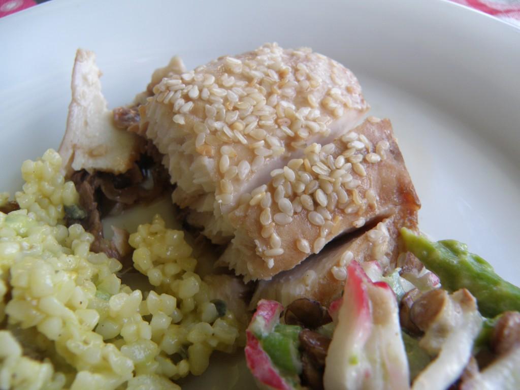 Thunfisch mit Sesam und Sojasoße
