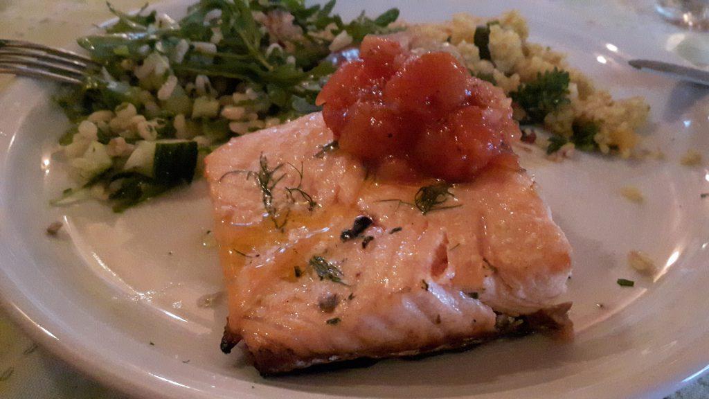 Lachs mit Tomatensalsa von Moni