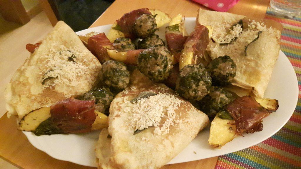 Mozzarella-Pfannkuchen